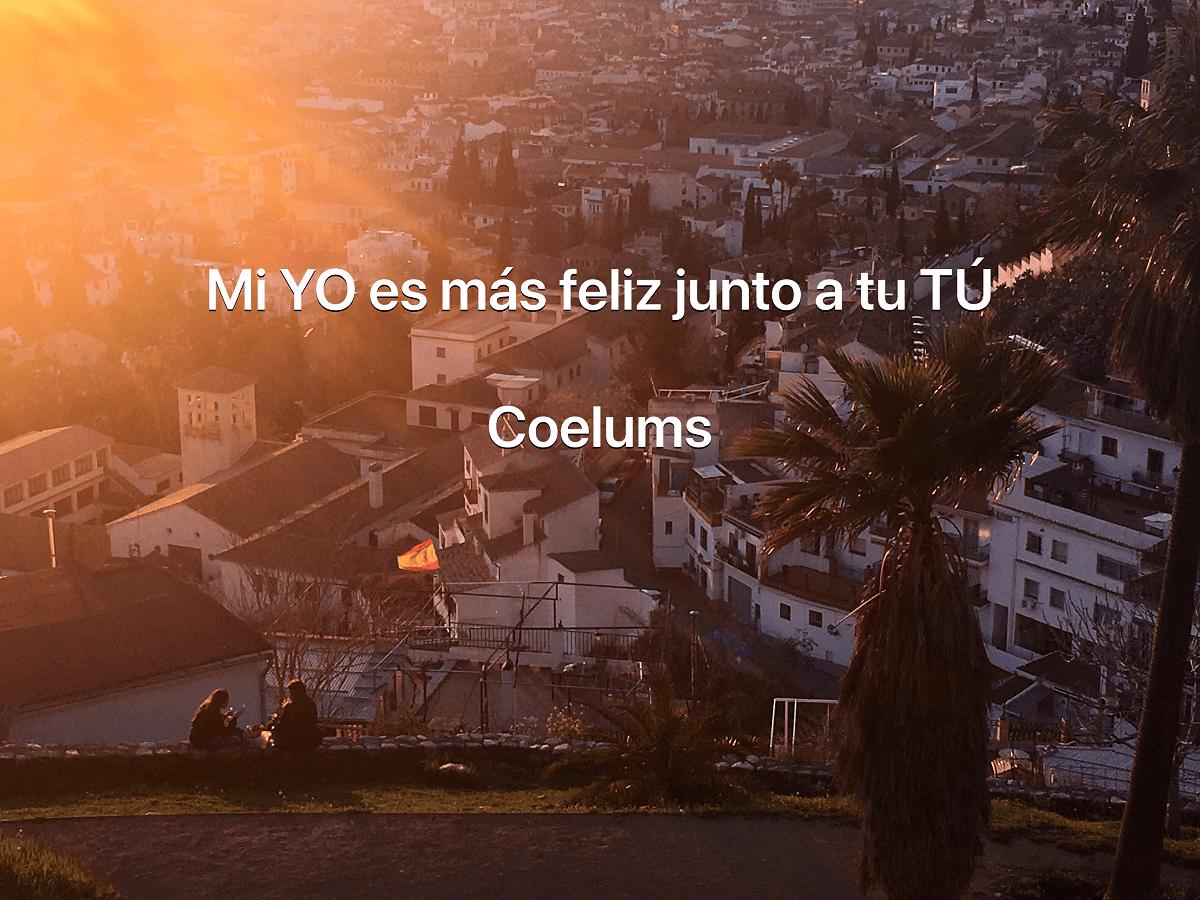 Junto a tu tú. Coelums